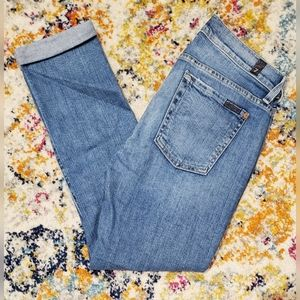 7 For All Mankind Skinny Crop & Rolled Jeans